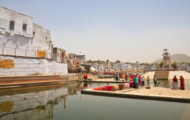 A sacred place for indusov- city and the lake of Pushkar, India
