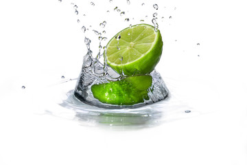 Lime and water drop