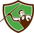 Javelin Throw Track and Field Athlete Shield