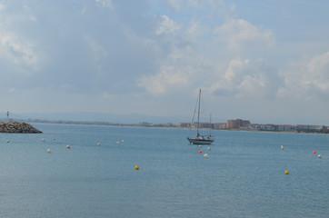 boat near harbour