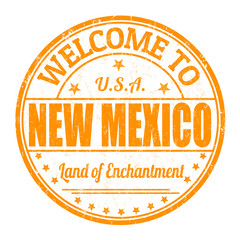 Welcome to New Mexico stamp