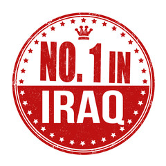 Number one in Iraq stamp