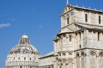 Pisa Baptistry and cathedral Duomo, Tuscany, Italy