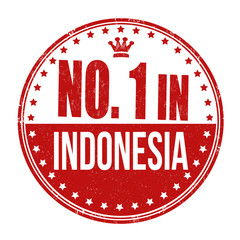 Number one in Indonesia stamp
