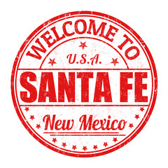Welcome to Santa Fe stamp