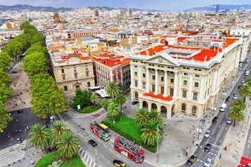 BARCELONA, SPAIN - SEPTEMBER 03: View of the greatest street Ram