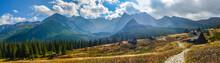 """Постер, картина, фотообои """"Hala Gasienicowa in Tatra Mountains - panorama"""""""