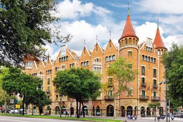 BARCELONA, SPAIN - SEPTEMBER 04: Casa de les Punxes or Casa Terr