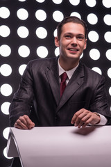 Attractive star TV presenter