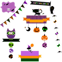 cute elements for halloween projects