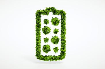 3d render alternative new battery concept