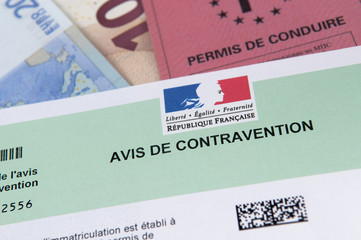 contravention permis