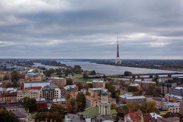 Riga city view including TV tower