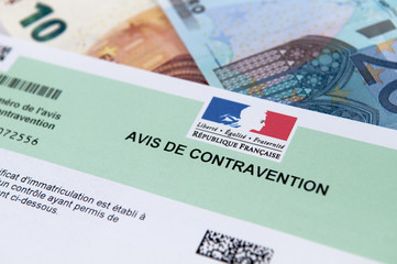 contravention argent