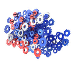 3d cog gear on white background