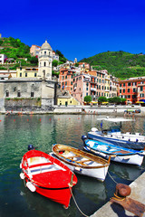 Vernazza - beautiful coastal village in Cinque terre, Italy