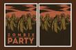 Zombie party invitation. - 71559390