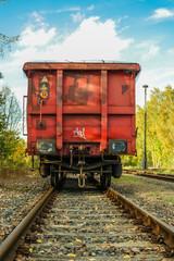 DDR Industrieabstellgleis mit Wagon