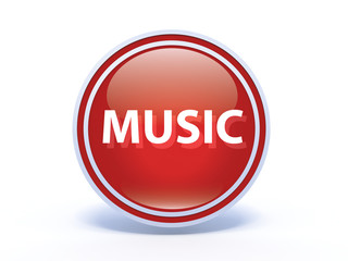 music circular icon on white background