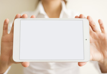Blank White Tablet