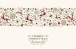 Vintage Christmas reindeer seamless pattern - 71560745