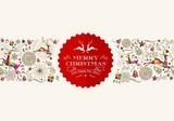 Vintage Christmas reindeer greeting card