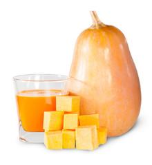 Pumpkin And A Glass Of Pumpkin Juice