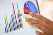 Leinwanddruck Bild - Close-up on financial data computer screen