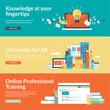 Flat design vector illustration concepts for online education