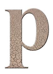 çatlaklı p harfi