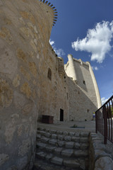 Torija castle through a fisheye lens