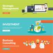 Zdjęcia na płótnie, fototapety, obrazy : Flat design concepts for business and finance