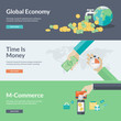 Flat design concepts for business, finance and m-commerce