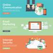 Zdjęcia na płótnie, fototapety, obrazy : Flat design concepts for internet communications