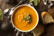 Leinwanddruck Bild - Homemade Autumn Butternut Squash Soup