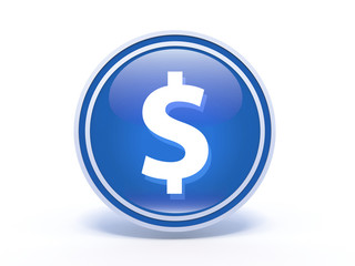 money circular icon on white background