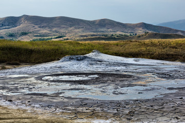 Mud volcanoes landscape in Buzau Romania