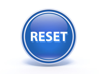 reset circular icon on white background