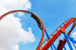 Roller Coaster in funny amusement  park - 71562107