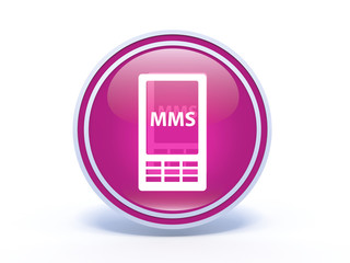 mms circular icon on white background