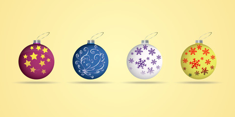 Collection of Christmas balls , vector
