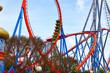 Roller Coaster in funny amusement  park - 71563530