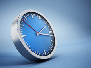 Blue clock background