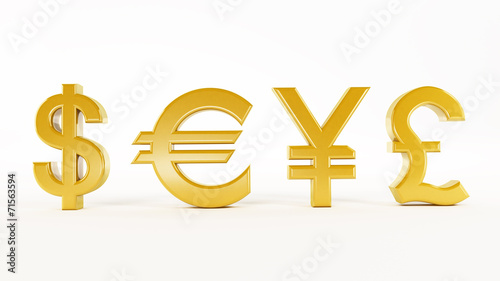 canvas print picture Currency symbols