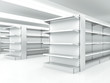 white clean shelves - 71564143