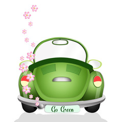 Ecological car with flowers