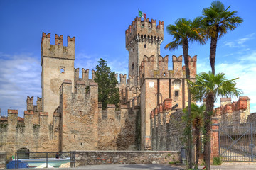 scaliger castle in Sirmione at the Lake Garda