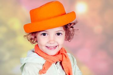 ritratto di una bambina con cappello