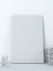 Table with empty canvas