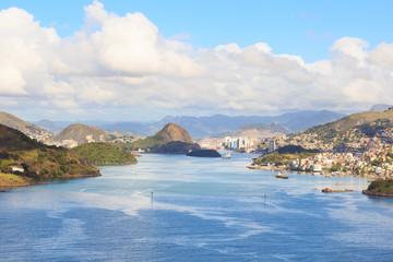 Vitoria, Vila Velha, bay, port, mountains, Espirito Santo, Brazi